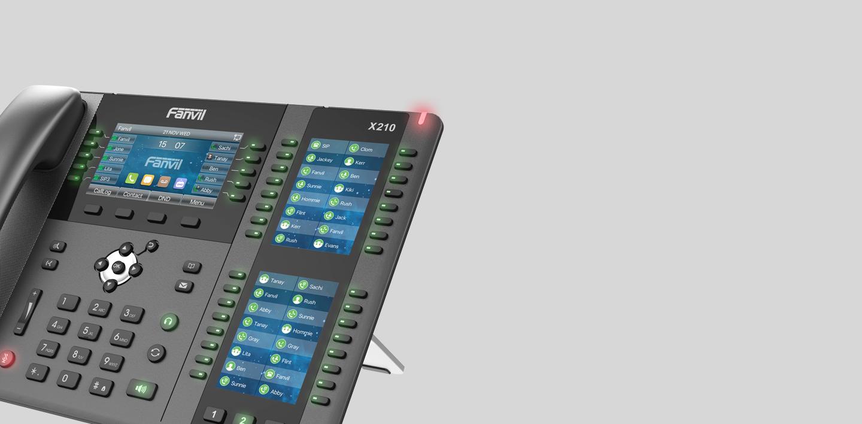 Điện thoại voip Fanvil X210 - hỗ trợ 106 phím gán