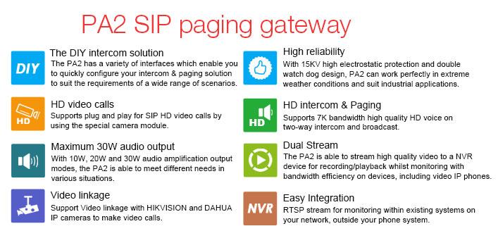 PA2 SIP paging gateway