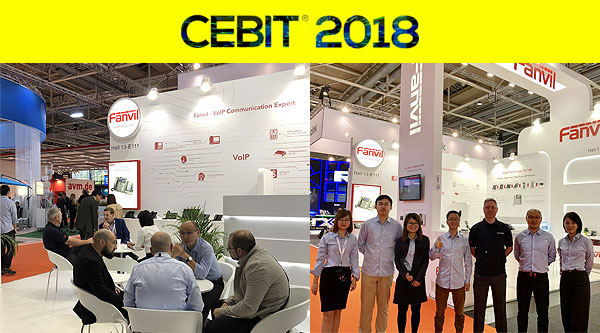 Fanvil successfully warped up the the 2018 CeBit