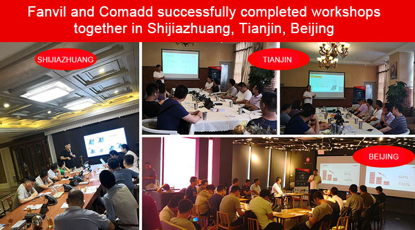 Fanvil and Comadd successfully completed workshops together in Shijiazhuang, Tianjin, Beijing